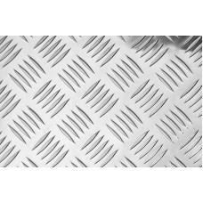 Рифленый алюминиевый лист 2 мм АМГ2н2 квинтет