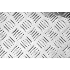 Рифленый алюминиевый лист квинтет 4х1200х3000 мм 1105АНр