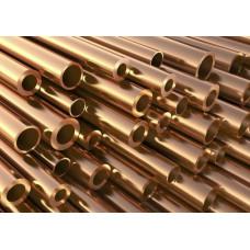 Труба бронзовая 10 мм БрАЖ9-4, матовая